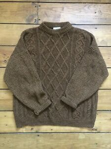 Vintage Wool Jumper - Mens - Brown - Size L