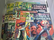 The Transformers #1-11 1984 Marvel High Grade VF VF/NM 1 2 3 4 5 6 7 8 9 10 11