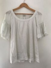 Ladies Top Kaliko Size 8 White <JJ3677