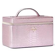 NWT Victoria's Secret Luxe Python Runway Vanity Case Pink Python