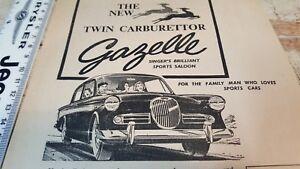 1960 SINGER GAZELLE Australian Sales Advert