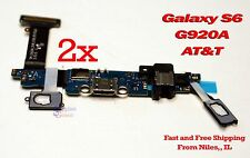 Lot 2 HQ Samsung Galaxy S6 SM-G920A AT&T USB Charging Port Dock Flex Cable 2x