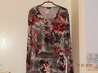GERRY WEBER Shirt Tunika Bluse Langarmshirt Pullover Longshirt 46 48 XL NEUw