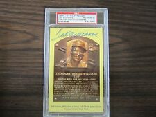 Ted Williams Autograph / Signed Gold Hall of Fame post card PSA/DNA Slabed GHFPC