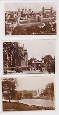 London, England ca1920  12 Real Photo Postcard Prewar City Views