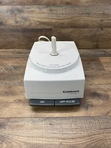 Cuisinart Custom 11 Food Processor Motor Base Only White Model DLC-8M Tested