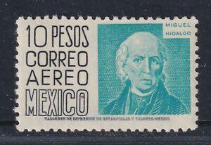Mexico Scott C216 XF LH 1953 10p Black & Aqua Airmail Issue Miguel Hidalgo