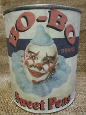 Bo-Bo SWEET PEAS VINTAGE REPRODUCTION DECORATIVE CAN FULL SIZE slg281