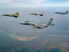 MILITARY AIR PLANE FIGHTER JET USAF F15 MIG27 POSTER ART PRINT PICTURE BB1149A