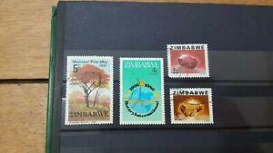 Lot 1 De 4 Timbres Du Zimbabwe