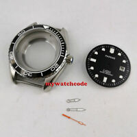45mm sapphire glass 5ATM Watch Case + dial + hand fit ETA 2824 2836 MOVEMENT