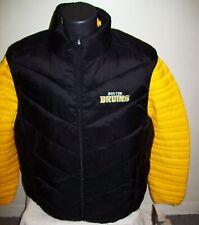 BOSTON BRUINS 2 Piece Nylon Systems Jacket w Vest Combo BLACK/YELLOW 2X