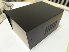 "Black DIY Metal Electronic Project Box / Transformer Enclosure Case 9""x 6""x 4.8"""
