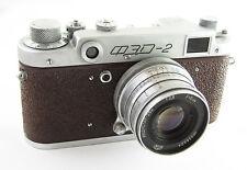FED 2 Russian Leica Copy RF Camera Industar 26m Lens EXC #261233 original brown