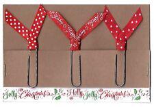 Set of 3 Handmade Decorative Paper Clip Planner Book Marks - CHRISTMAS TRIO