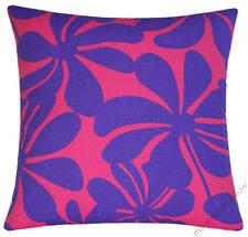 """Pink/Purple Twist decorative throw pillow cover/case/cushion cover cotton 18x18"""""""