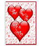 Cute Love Heart Wedding Greeting Card - The Brand New Mr & Mrs
