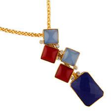 Halsketten und Anhänger aus Gelbgold mit Lapis Lazuli