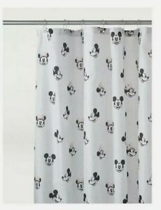 Disney Mickey Mouse Mouse Shower Curtain includes curtain hooks NEW RARE