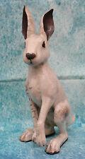 English Raku Studio Art Pottery Winter Hare Signed Potter Sculptor Brian Andrew