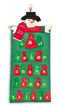 Snowman Advent Calendar 24 Fabric Pockets To Add Your Own Gifts Christmas MAPK