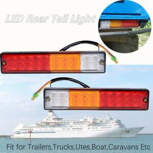LED Rear Tail Light Truck Trailer Turn Signal Reverse Brake Lamp Shockproof 12V