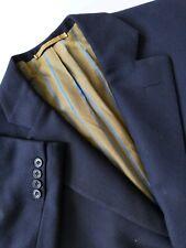 40XS 40 Davies & HOPSACK Saville Surgeon Canvas 2Vent England Coat Jacket Blazer
