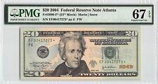 United States 2004 Fr. 2090-F* PMG Superb Gem UNC 67 EPQ $20 FRN Atlanta Star