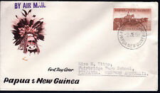 1958 PNG Papua New Guinea Cattle 1'7 FDC Cover Pinjarra WA CDS
