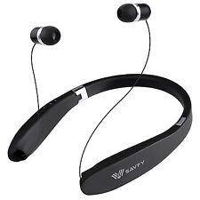 SAVFY Wireless Bluetooth V4.1 Foldable&Retractable Headphones Stereo Earbuds