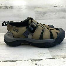 Men's KEEN Olive Leather Waterproof Hiking Fisherman Sandal Size 9