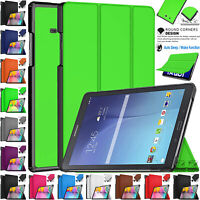 Smart Leather Flip Stand Case Cover For Samsung Galaxy Tab E 9.6 SM-T560 SM-T561
