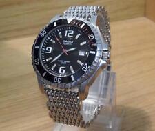 Para Hombre Retro 200 M Casio MTD-1053 DIAL NEGRO CUARZO Divers Malla Pulsera Reloj
