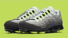 "NIKE AIR VAPORMAX '95 AJ7292-001 Black Volt Medium Ash ""NEON"" Men's Sneakers NEW"