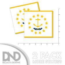 Rhode Island State Flag Sticker Decal Bumper RI Rhode Islander State 2 Pack 5in