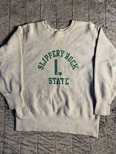 70's ? champion reverse weave sweatshirt slippery rock state medium Usa Rare
