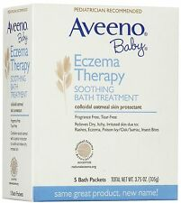 Aveeno Baby Eczema Therapy Soothing Bath Treatment 5 pack 375oz / 105g