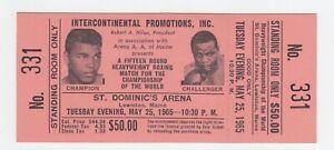 Muhammad Ali vs. Sonny Liston Full Ticket May 25, 1965 No. 331