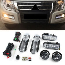 Front Bumper Fog Driving Light Daytime Running for Mitsubishi Pajero 2015 2016