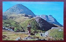 The Three Sisters, Glen Coe, Argyllshire, Scotland Vintage RP N.P.O. Postcard