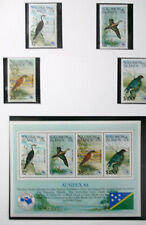 STAMPS SOLOMON ISLANDS  MNH BIRDS S/S PLUS 4 STAMPS AUSIPEX 84