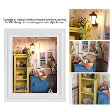 Dollhouse Miniature DIY Kits Wood Toy Doll House Cottage Photo Frame Design Gift