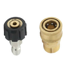 Pressure Washer Durable Brass Quick Release Adapter Set M22/14 To 1/4''