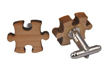 Wooden Cufflinks - Jigsaw