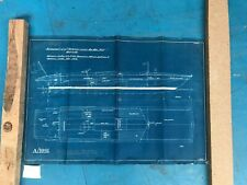 Vintage Original Blueprint C. 1950 - Not a reproduction!