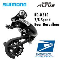 Shimano Altus RD M310 7 / 8 Speed Cycling Rear Derailleurs Black MTB