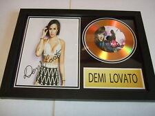 DEMI LOVATO     SIGNED  GOLD CD  DISC