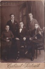1929 CP Handsome young men boy guitar woman gay interest Russian antique photo