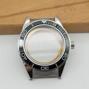 41mm Watch Case Black Ceramic Bezel Sapphire Cystal Fit ETA 2824/2836 Movement