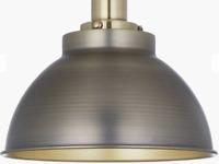 NEW John Lewis Baldwin Pendant Ceiling Pendant, Antique Brass/Pewter  RRP£75.00